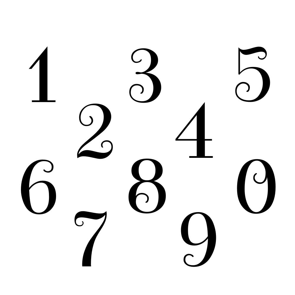 Schöne Zahlen Schreiben